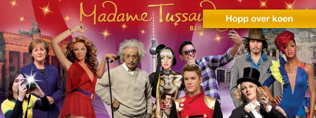 Slipp køen til Madame Tussauds Berlin og kom på kloss hold med de størstestjerne. Bestill billetter her!
