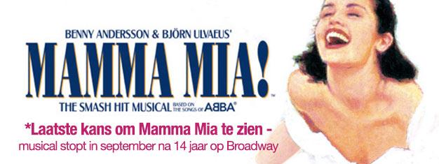 Mamma Mia, de musical met muziek van ABBA speelt op Broadway in New York. Bestel Tickets voor Mamma Mia op Broadway in New York hier!