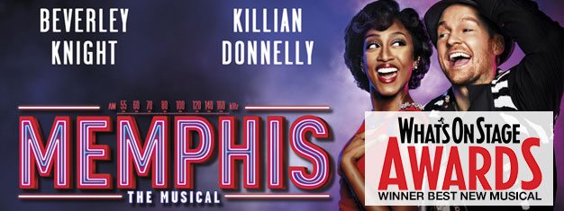 The musical Memphis about a black singer who meets a white radio DJ, but is the world ready for their music and love? Book tickets for Memphis here!