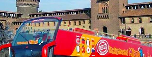 Biljetter till Hop-on Hop-Off Milano City Sightseeing! Utforska Milano i din egen takt med de populära Hop On Hopp Off bussarna! Boka biljett här!