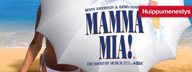 Mamma Mia -musikaali Novello-teatterissa Lontoossa kera Abban laulujen. Osta teatterilippusi Mamma Mia -musikaaliin Lontoossa täältä!