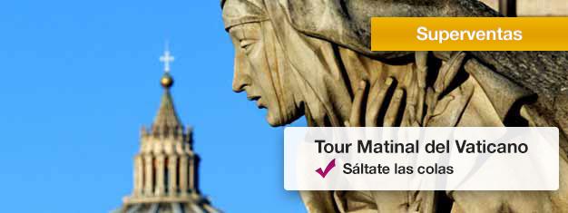 Visita los Museos del Vaticano, admira la Capilla Sixtina y Explora la Basílica de San Pedro. Reserva entradas en línea y asegura tu plaza en este tour popular!