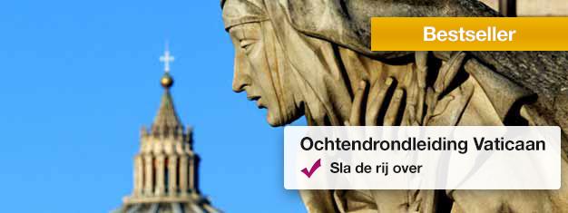 Bezoek de Vaticaan musea, bewonder de Sistine Kapel en verken de St. Pieter Basiliek. Boek tickets online en verzeker uw plaats op deze populaire tour!