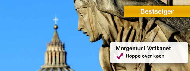 Besøk Vatikanmuseene, det sixtinske kapell og utforskPeterskirken. Bestill billetter på nettet og sikre deg en plass på denne populære turen!