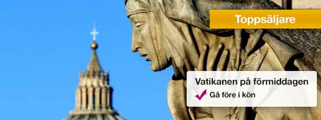 Besök Vatikanens Museum och Sixtinska Kapellet med auktoriserad guide. Utforska Peterskyrkan på egen hand. Boka biljetter på nätet och undvik köerna på plats!