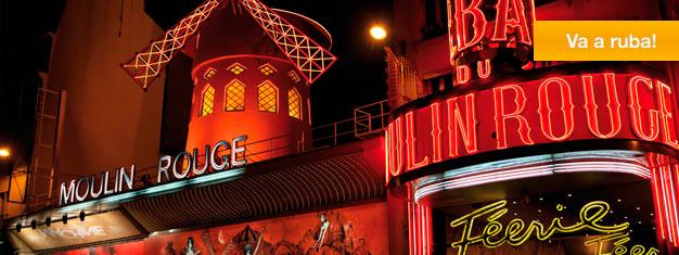 Bal du Moulin Rouge è il famosissimo cabaret di Parigi. Féerie è lo spettacolo del momento del Moulin Rouge e su questo sito si possono acquistare i biglietti per vederlo!