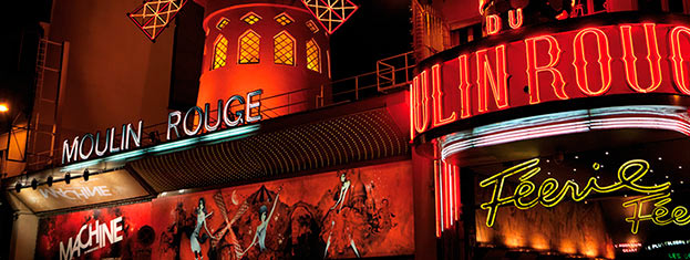 Experience the world-renowned cabaret at the Moulin Rouge. Tickets are sold-out quickly for this incredibly popular show, so book your tickets well in advance!
