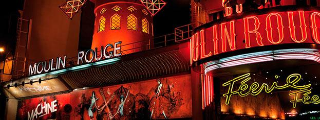 """A """"Bal du Moulin Rouge"""" világhírű mulatóhely Párizsban. Jelenleg a """"Féerie"""" show van műsoron a Moulin Rouge ban, és a párizsi Féerie előadásra itt lehet jegyet kapni!"""