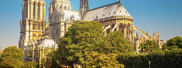 Enjoy Paris' major landmarks! Visit the Notre-Dame, Montmartre and skip the line to the 2nd floor of the Eiffel Tower. Small tour group! Book now!