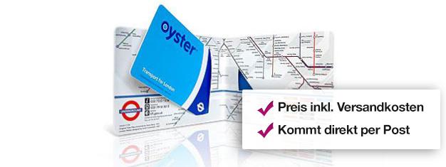 Eine Visitor Oyster Card ist die beste und günstigste Fahrkarte in London, mit Reiseguthaben für die U-Bahn und die roten Bussen in allen Zonen!