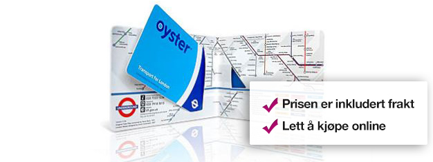 Kjør ubgrenset med undergrunn og busser i alle soner med et Oyster Card i London! Det billigste transportkortet i London. Barn under 11 år reiser gratis. Bestill online!