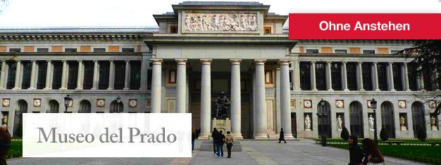 Buchen Sie Ihre Tickets für das welberühmte Museo del Prado in Madrid hier und umgehen Sie die Warteschlange. Tickets für das Museo del Prado in Madrid können hier gebucht werden!