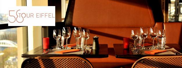 Lunch w restauracji 58 na Wieży Eiffla w samym sercu Paryża. Pozwól się oczarować widokiem z Wieży Eiffla w Paryżu.