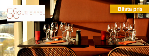 Biljetter till lunch på Restaurant 58 i Eiffeltornet i Paris! God mat, avslappnad atmosfär och en fantastisk utsikt! Boka lunch på Restaurant 58 Eiffel Tower här!