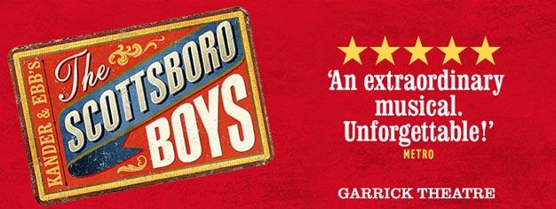 Den kritikerroste Scottsboro Boys the Musical spiller nu i London for en kort periode. Bestil dine billetter til Scottsboro Boys the Musical i London her!