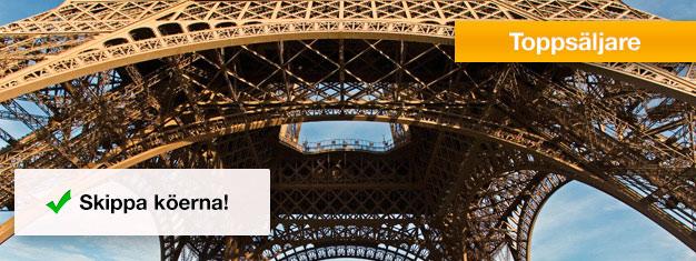 Gå före i kön till Eiffeltornet! Köp endast entré till Eiffeltornet hemifrån och undvik de timslånga köerna. Smart, smidigt & säkert. Boka biljetter nu!