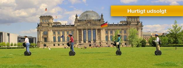 Udforsk Berlin på denne 3 timers segwaytur! Lær om Berlin som du kører gennem den historiske by.Se alle de største seværdigheder! Bestil din tur online!