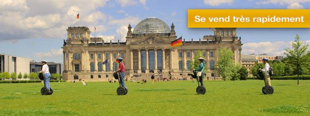 Visitez Berlin en segway sur un circuit de trois heures, tout en découvrant l'histoire de la capitale allemande. Réservez en ligne!