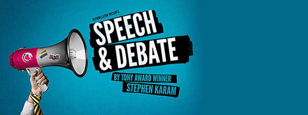 Speech and Debate in London is a hilarious play that grapples with serious modern social issues - homophobia, teenage alienation and the limits of online privacy.
