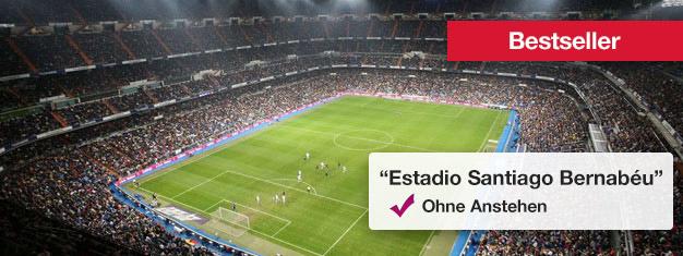 Bernabeu, das Stadion von Real Madrid ist sehr beeindruckend und bietet Platz für mehr als 80.000 Fans. Tickets für eine Tour durch Bernabeu können nur hier gebucht werden.
