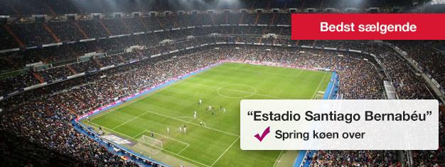 Bernabéu, Real Madrids stadion er utrolig imponerende med plads til mere end 80.000 fans. Billetter til Bernabéu rundturen kan bestilles her!