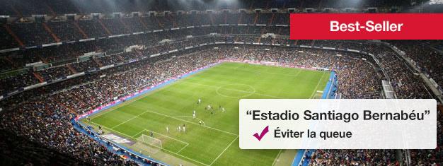 Bernabéu, le Stade du Real Madrid avec assez de sièges pour plus de 80.000 spectateurs, est vraiment impressionnant. Les tickets pour uniquement la visite du Bernabéu peuvent être réservés ici!