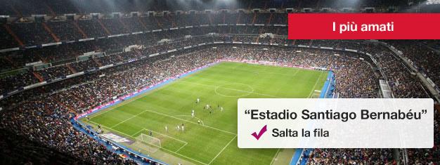 Il Bernabéu, lo stadio del Real Madrid, è davvero impressionante con una capienza di più di 80.000 posti. Prenotate qui biglietti per il tour del Bernabéu!