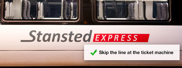 Prebook your train ticket for the Stansted Express and jump right onto the train from the airport to London's Liverpool Street Station! Travel time is only 45 minutes.