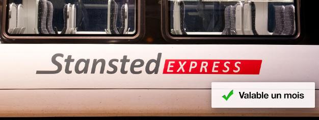 Pré-réservezvos billets de trains pour le Stansted Express et montez à bord du train de l'aéroport à la Station Liverpool Street! Le trajet dure seulement 45 minutes.