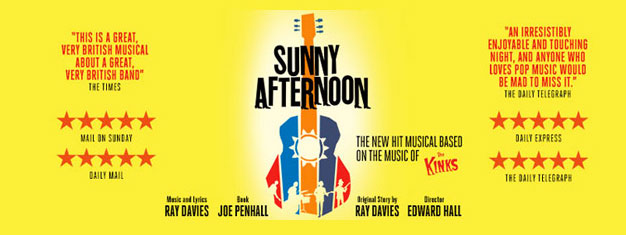 Sunny Afternoon draws you into the legendary band, The Kinks, infamous story. Winner of Best New Musical in 2015. Book tickets online!