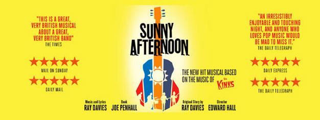 Sunny Afternoon zieht Sie in den Bann der legendären Band, The Kinks, und deren berüchtigten Geschichte. Bestes Musical 2015. Tickets online buchen!