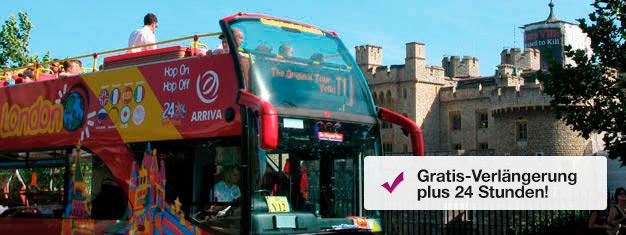 Sightseeing in London – am besten mit den Original-Tour-Bussen. Vier Hop on/Hop off-Linien erlauben es Ihnen, London so zu erkunden, wie es Ihnen gefällt.