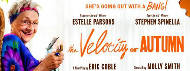 The Velocity of Autumn on Broadway in New York with Estelle Parson and Stephen Spinella. Book tickets for The Velocity of Autumn in New York here!