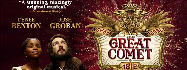 The Great Comet es el nuevo musical en Nueva Yrok protagonizado por el galardonado artista de grabación Josh Groban. Consigue aquí tus entradas!