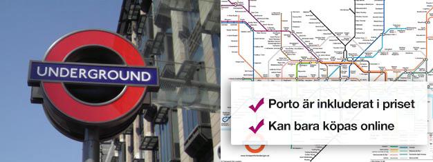 Köp dina Travelcards till Londons tunnelbana, the tube, och röda bussar här! Dina Travelcards resekort skickas hem till dig innan du reser till London! Bekvämt!