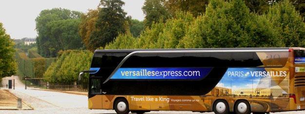 Empruntez le Versailles Express et rendez vous facilement et de manière confortable au Château de Versailles. Les enfants de moins de 9 ans sont admis gratuitement. Réservez votre ticket en ligne!