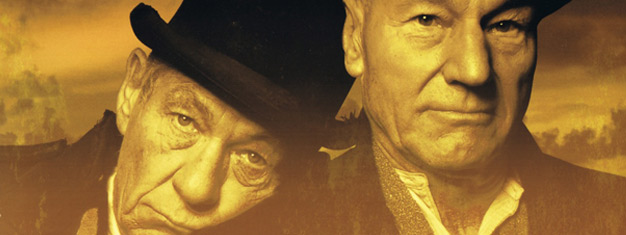 Waiting for Godot, Samuel Beckett's skuespil, på Broadway i New York med Patrick Stewart og Ian McKellen. Bestil billetter til Waiting for Godot i New York her!