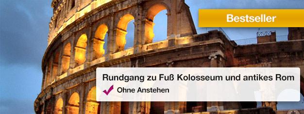Machen Sie eine Führung durch das Kolosseum und Forum Romanum umgehen Sie die langen Warteschlangen mit Ihrem Guide! Erfahren Sie mehr über das antike Rom. Tickets online buchen!