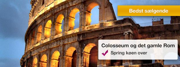 Tag på en guidet rundvisning af Colosseum og Forum Romanum og spring de lange indgangskøer over sammen med din guide! Bestil billetter online!