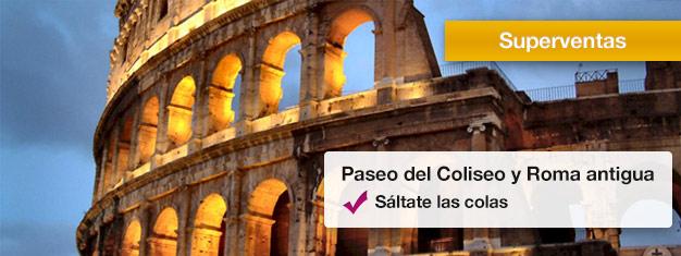 Toma un tour guiado del Coliseo y el Foro Romano y sáltate las colas largas con tu guia! Aprende sobre la antigua Roma. Reserva entradas en línea!