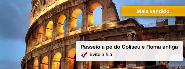 Conheça os monumentos mais incríveis da Roma antiga neste passeio guiado, incluindo o Coliseu e o Fórum Romano com entrada preferencial - com guia profissional e muita história, reserve online!
