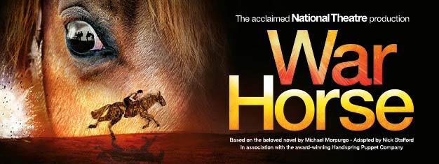 War Horse ist die grandiose Geschichte der Liebe eines Mannes zu seinem Pferd während des ersten Weltkriegs. Gewinner von fünf Tony Awards, darunter bestes Theaterstück. Online buchen!