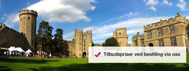Bestill billetter til Warwick Castle utenfor London her, og bli vitne til 1000 år med imponerende historie. Bestill Warwick Castle her!