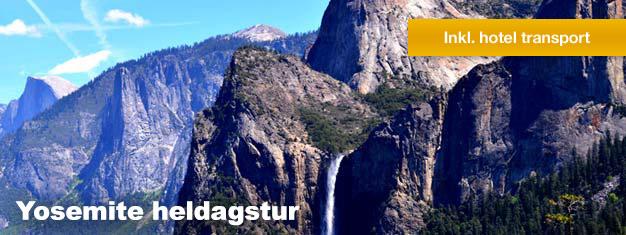 På denne Yosemite heldagstur kommer du til at opleve Yosemite National Park og de majestætiske rødtræer. Bestil din tur her!
